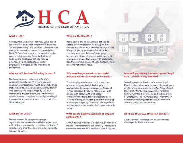 HCA pamphlet